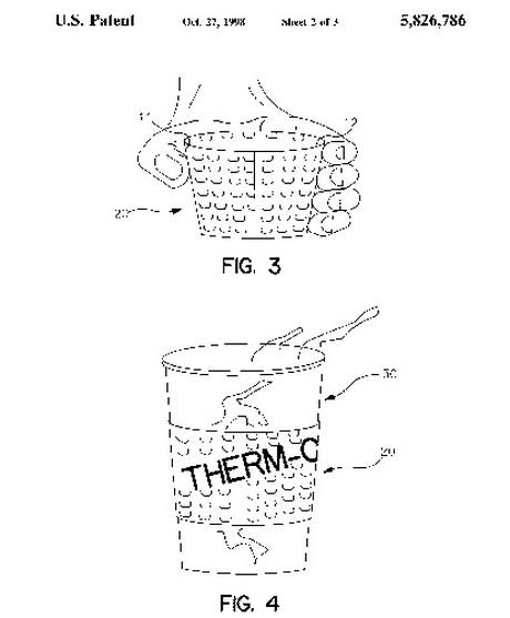 Крупный план кофейной манжеты Соренсена в его патентном реестре