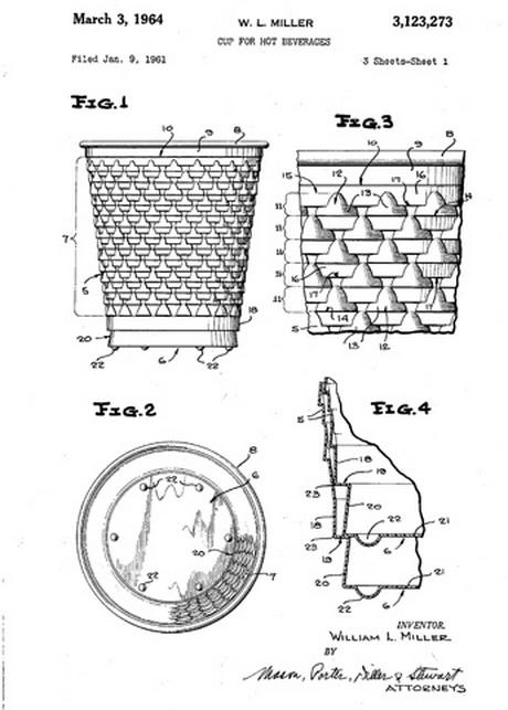 Один из предшественников Соренсена подал заявку на патент для данного стакана, предназначенного для горячих напитков.