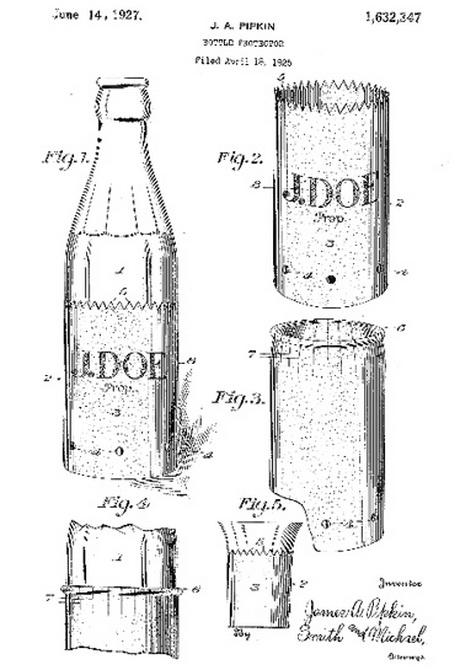Дизайн 1920-х годов для холодных напитков в стеклянных бутылках